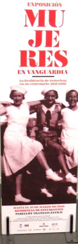 Cartel de la exposición 'Mujeres en vanguardia'