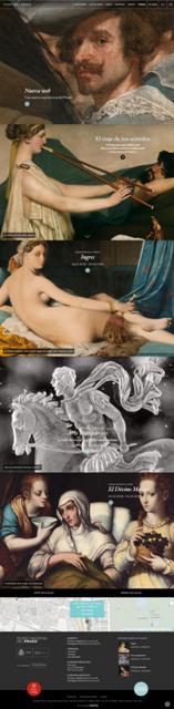 Home de la website del Museo del Prado