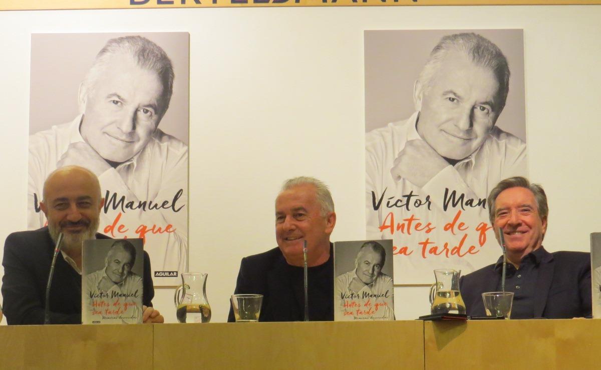 """Presentación de """"Antes de que sea tarde"""", de Víctor Manuel"""