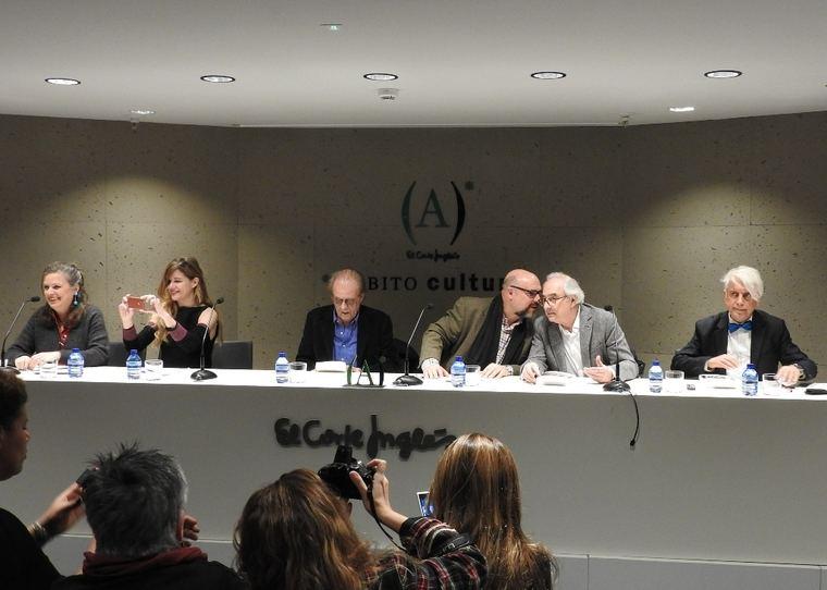 Ouka Leele, Guillermina Royo-Villanova, Luis Eduardo Aute, Basilio Rodríguez Cañada, Jorge Urrutia y Antonino Nieto