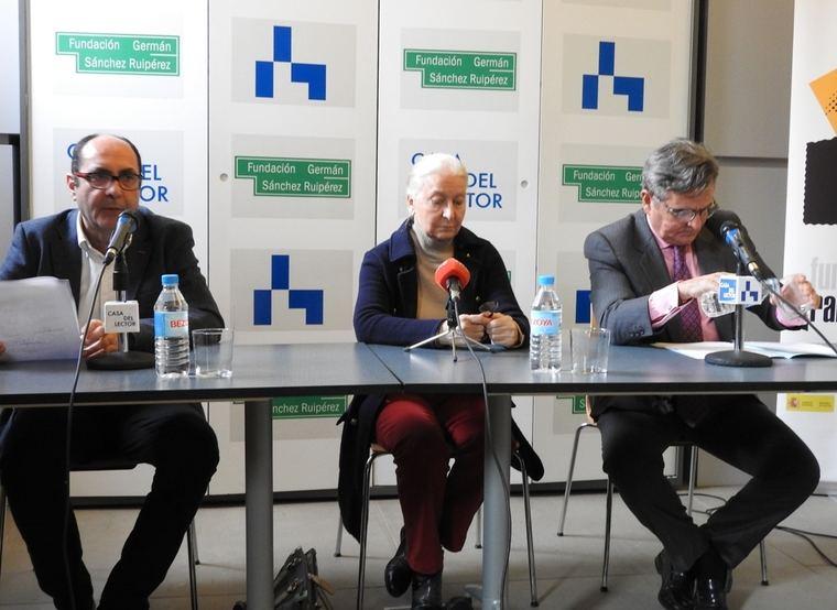 Manuel Llorente Machado, María España Suárez Garrido y Narciso de Foxá