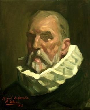 Miguel de Cervantes por Alejandro Cabeza (Museo Casa Natal de Cervantes, Alcalá de Henares)