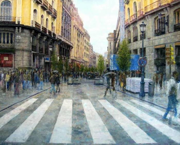 El artista puertollanense Emi Vozmediano, expone tres obras en la Feria Internacional de Arte Emergente de Madrid