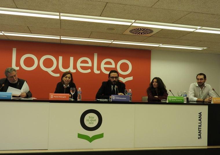 Jordi Sierra i Fabra, Maite Malagón, Raúl González, Vanesa Pérez-Sauquillo y Fernando J. López