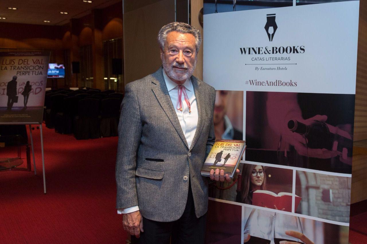 Luis del Val presenta 'La transición perpetua' en la cata literaria Wine & Books de Eurostars Hotels