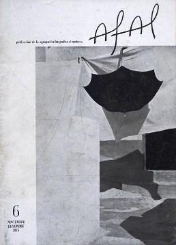 Afal, revista bimestral de fotografía y cinematografía, nº 6. Almería. Agrupación Fotográfica Almeriense, noviembre- diciembre 1956. (Fotografía de cubierta: Carlos Pérez Siquier)