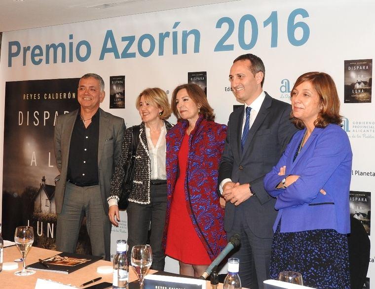 Juan Ramón Lucas, María Pujalte, Reyes Calderón, César Sánchez y Belén López