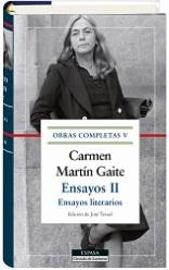 Galaxia Gutenberg publica el quinto volumen de las Obras Completas de Carmen Martín Gaite