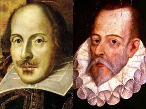 William Shakespeare y Miguel de Cervantes