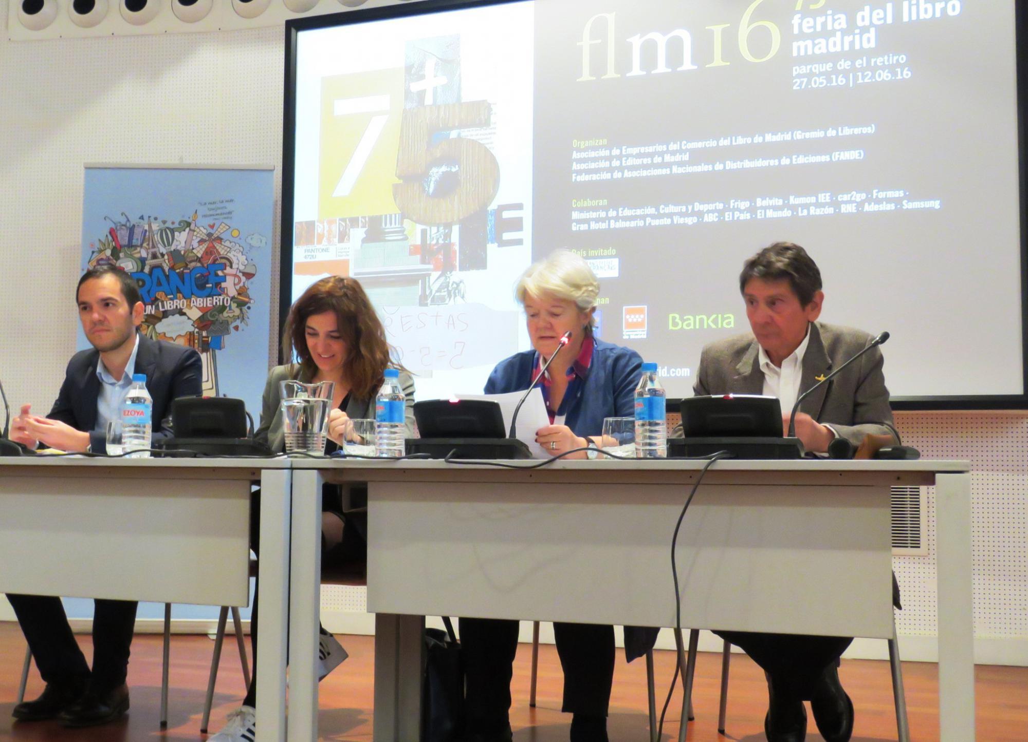 Presentación de la 75 edición de la Feria del Libro de Madrid, que se celebrará del 27 de mayo al 12 de junio