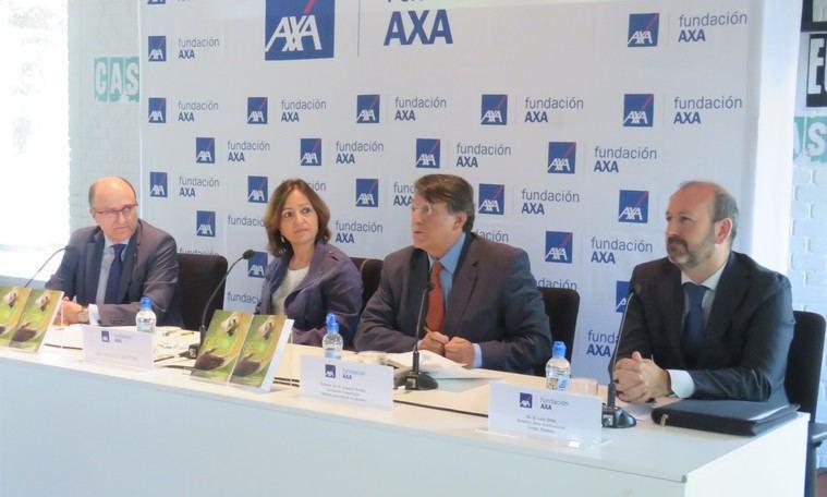 De izquierda a derecha, Manuel Trigo; Ángeles Cristóbal; Joaquín Araújo y Luis Ortiz