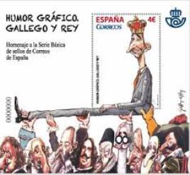 CORREOS presenta un sello de Gallego & Rey que homenajea el humor gráfico