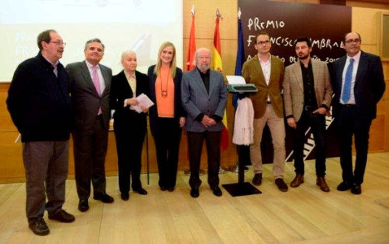 Entrega del Premio Francisco Umbral al Libro del Año a José Manuel Caballero Bonald por