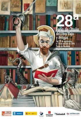 Cartel de la Feria de Otoño del Libro Viejo y de Ocasión