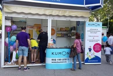 Caseta de Kumon en la Feria del Libro de Madrid