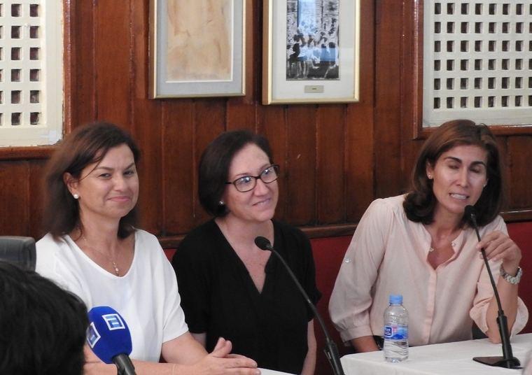 Montserrat López Moro, Isabel Bono y Ofelia Grande