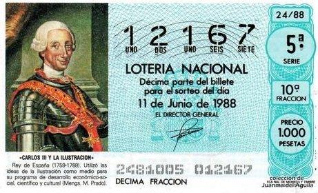 La Lotería española fue creada por Carlos III