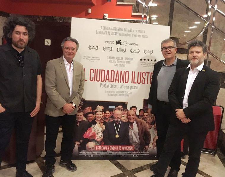 Mariano Cohn, Óscar Martínez, Javier Velasco y Gastón Duprat