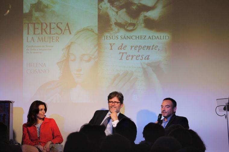 Helena Cosano, Miguel de Lucas y Jesús Sánchez Adalid