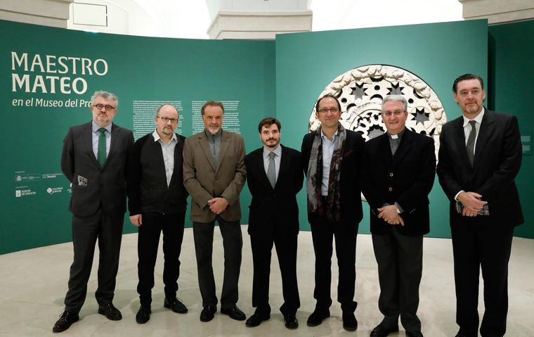 De izquierda a derecha: Miguel Falomir; Miguel Fernández-Cid, Manuel Quintana Martelo, Ramón Yzquierdo Peiró, comisario de la muestra; Anxo Lorenzo, Daniel Lorenzo y Miguel Zugaza, director del Museo del Prado