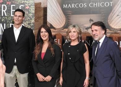 Marcos Chicot, Dolores Redondo, Julia Otero y José Creuheras