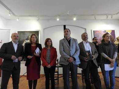 En el centro Antonia Olivares junto a Jesús Maeso de la Torre y Sixto Sánchez Lorenzo