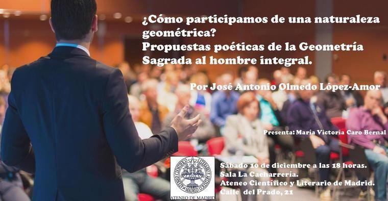 José Antonio Olmedo disertará sobre la influencia de la geometría sagrada en la poesía
