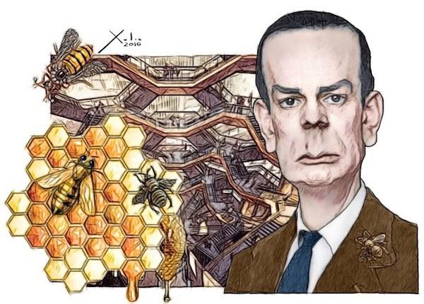 Xulio Formoso: en el centenario de Camilo José Cela.  Puedes encargar un póster de este dibujo de Xulio Formoso a publicidad@enlacemultimedia.es