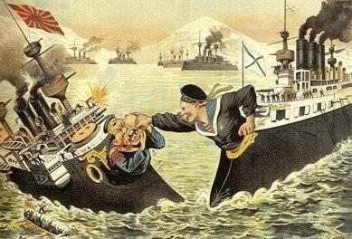Caricatura guerra ruso japonesa. (Imagen: Historia Alternativa)