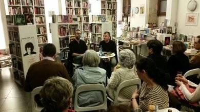 Manuel Vilas en la presentación de sus libros
