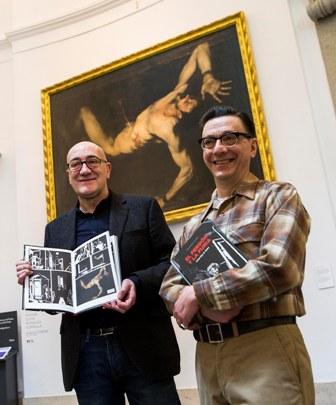 Antonio Altarriba y Keko (José Antonio Godoy), guionista e ilustrador, respectivamente, del cómic El perdón y la furia.
