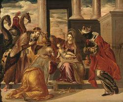 La adoración de los Reyes Magos de El Greco