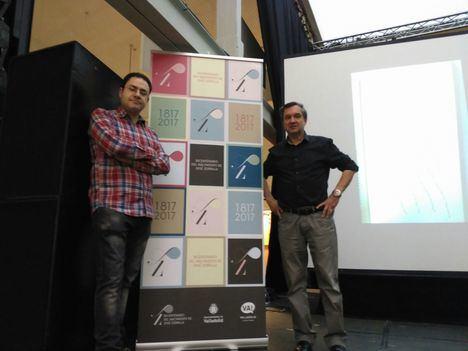 Rafael Marín y David Acebes en el Laboratorio de las Artes de Valladolid
