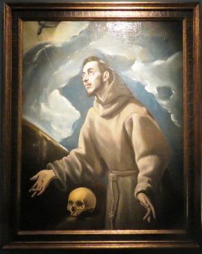 Doménico Theotocópulos, el Greco, La estigmatización de san Francisco, hacia 1580. Óleo sobre lienzo, 108 x 83 cm. Colección Abelló