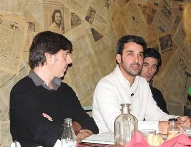 Andrés Barba, Javier Vela e Ignacio Garmendía