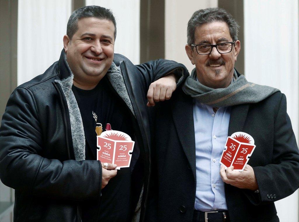 Ricard Ruiz Garzón y Francisco Días Valladares, ganadores de la XXV Edición del Premio edebé de Literatura Infantil y Juvenil