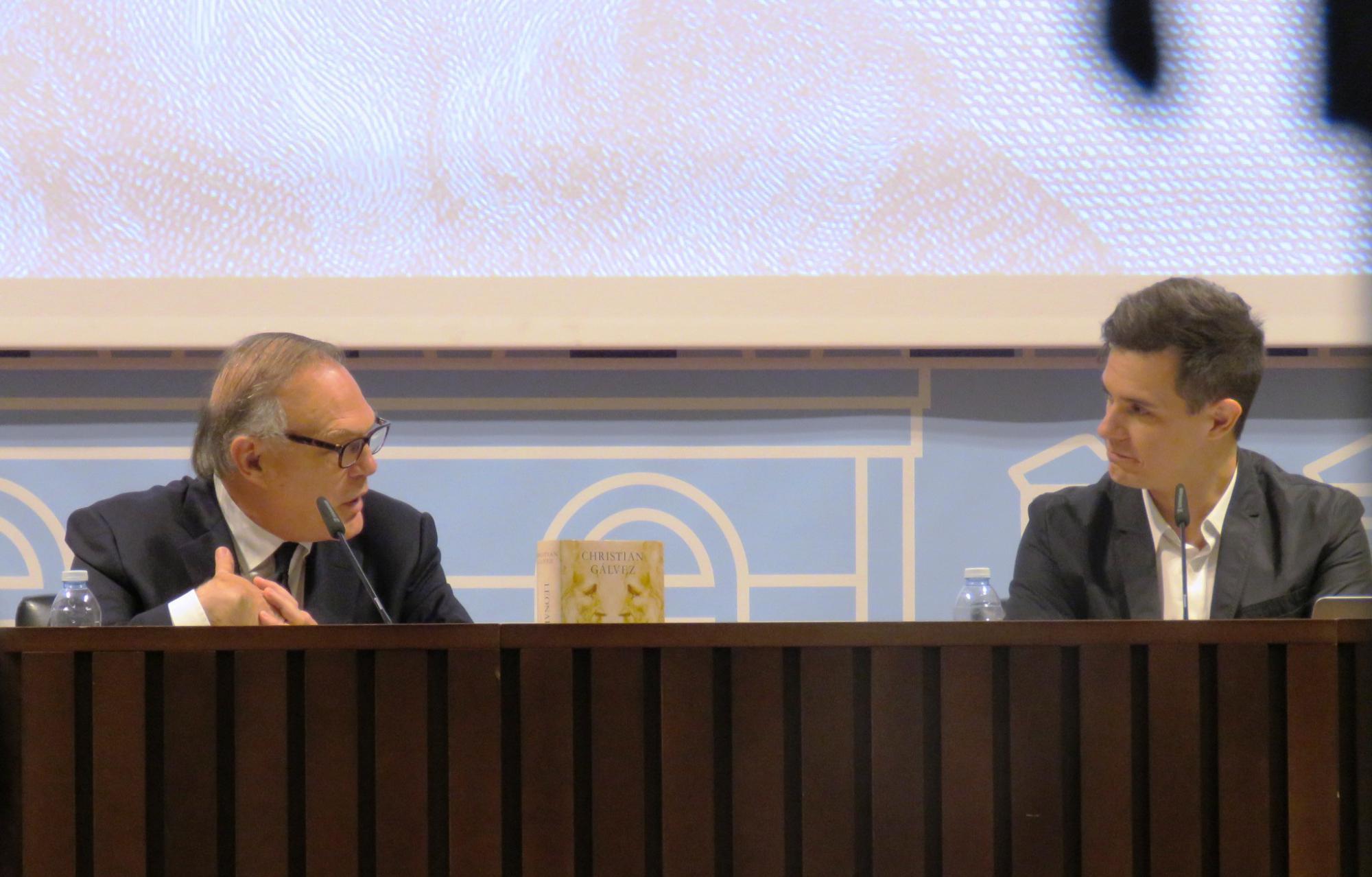 """Presentación del libro """"Leonardo Da Vinci -cara a cara-"""" de Christian Gálvez, presentador del programa Pasapalabra de Telecinco"""