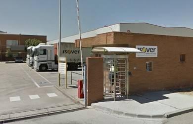 Entrada a la empresa SAINT GOBAIN ISOVER de Azuqueca de Henares (Guadalajara)