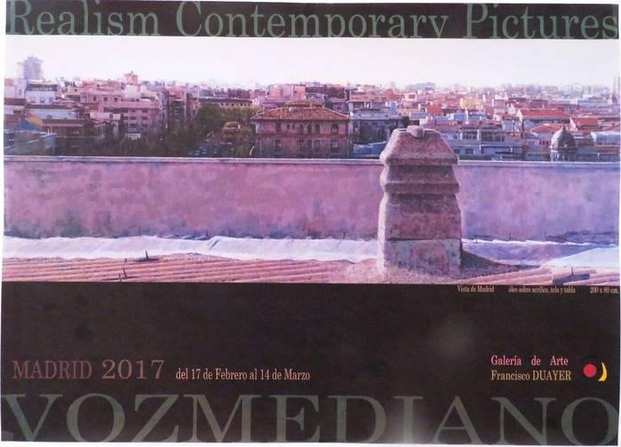 El pintor Emi Vozmediano, de nuevo en Madrid