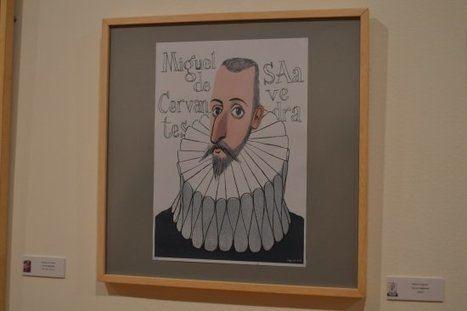 """""""100 Caras de Cervantes"""", exposición de caricaturas del autor del Quijote"""
