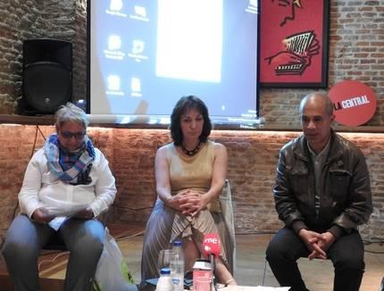 Mayda Bustamante, Daína Chaviano y Edgar Borges