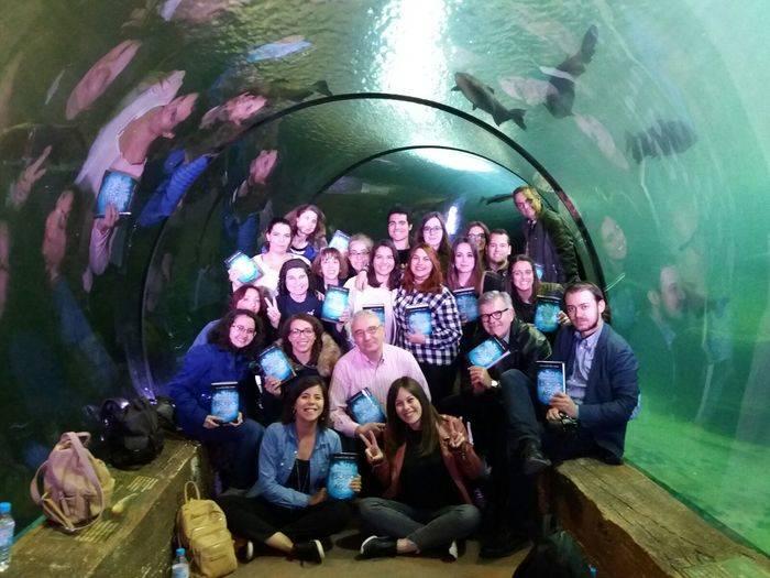 Blogueros bajo el agua