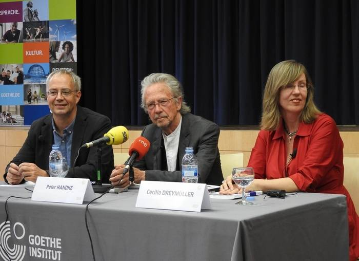 Georg Pichler, Peter Handke y Cecilia Dreymüller