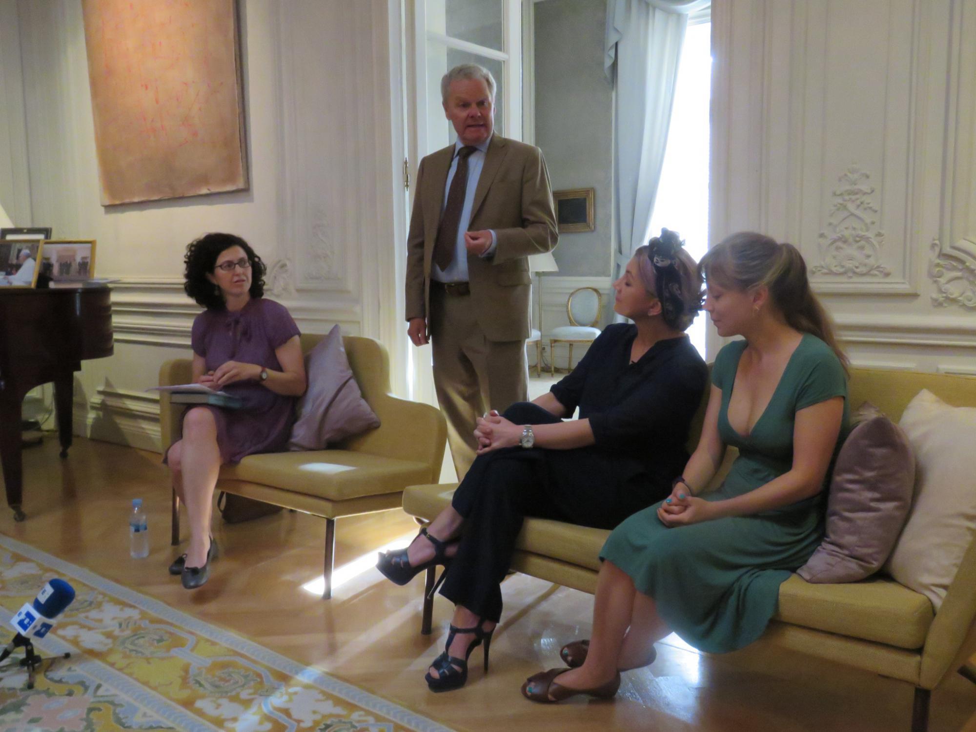 Presentación de la edición conmemorativa en la Residencia de la Embajada de Suecia en Madrid