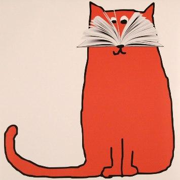 Cartel de la Feria del Libro de Madrid 2017, de la diseñadora Ena Cardenal de la Nuez, que hace un guiño al apelativo por el que se conoce a sus ciudadanos: los 'gatos'