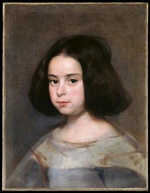 Retrato de niña. Diego Velázquez. Óleo sobre lienzo. ca. 1638-44