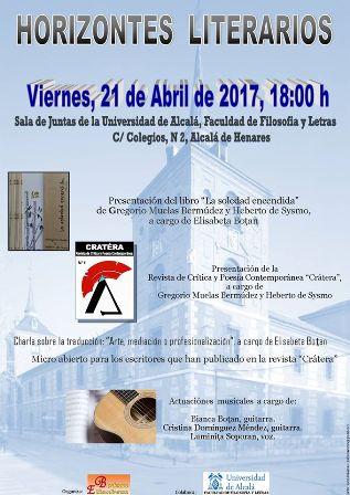 Presentación de la revista Crátera en Alcalá de Henares