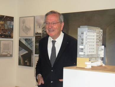 El famoso arquitecto Rafael Moneo, durante la presentación de la exposición