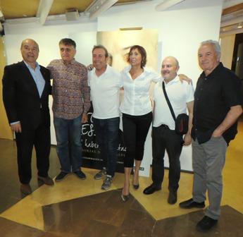 De izquierda a derecha, Antonio Resines, el Gran Wyoming, Antonio Molero, María Barranco, Jesús Bonilla y Víctor Manuel