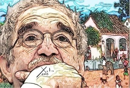 Xulio Formoso: Gabo. Puedes encargar un póster de este dibujo de Xulio Formoso a publicidad@enlacemultimedia.es
